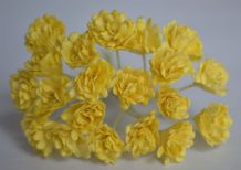 LIGHT YELLOW  GYPSOPHILA / FORGET ME NOT Mulberry Paper Flowers
